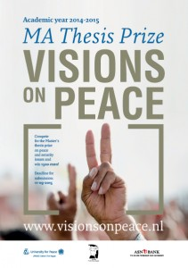 Flyer Visions on Peace 2015